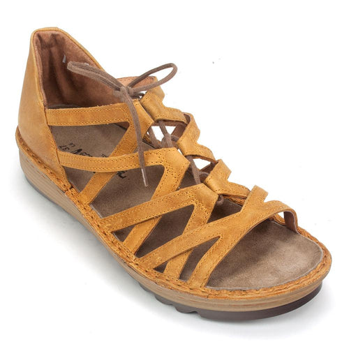 Naot Women's Yarrow Leather Cut Out Gilly Wedge Sandal Shoe