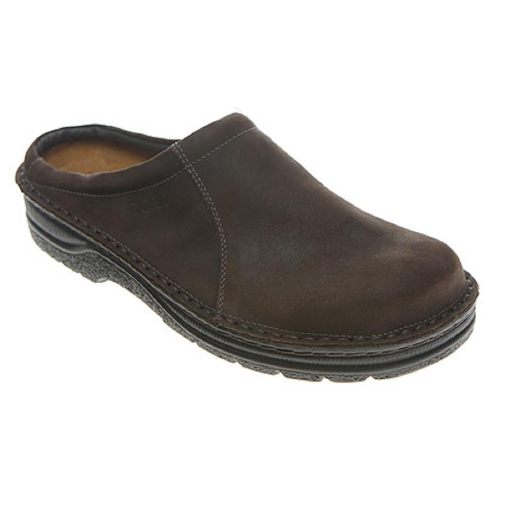 Naot Bjorn Men's Padded Leather Slip-Resist Casual Clog E08 Oily Brown Nubuck | Simons Shoes