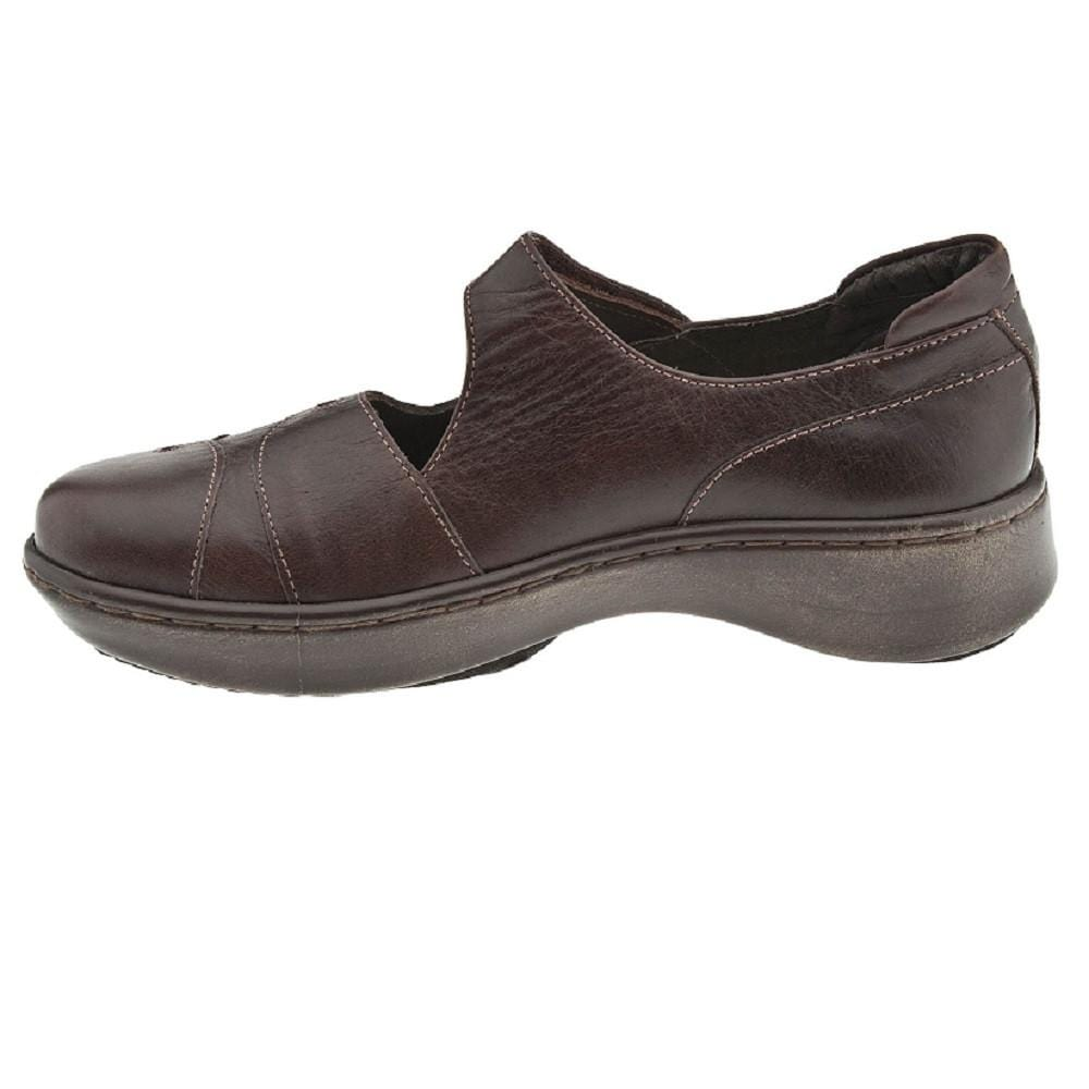 Naot Coast Women's Contrast Leather Slip-Resistant Mary Jane Flat Shoe