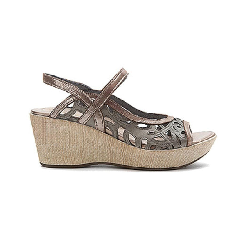 Naot Deluxe Women's Cutout Leather Slingback Low-Wedge Sandal Shoe