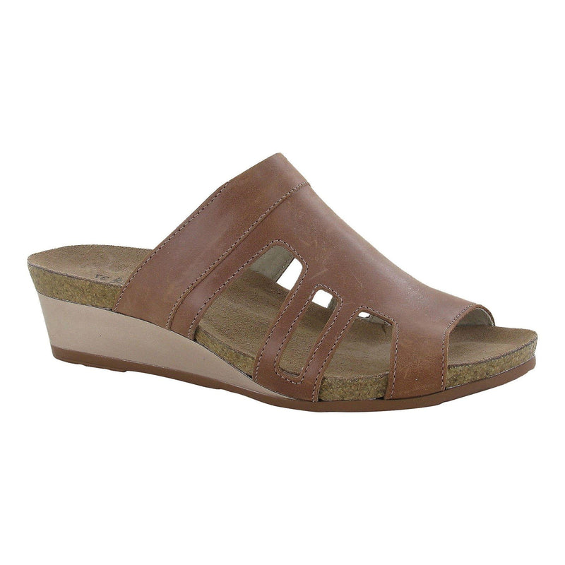 Naot Women's Carriage Leather Slide Cork Footbed Sandal |  Simons Shoes!