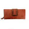Osgoode Marley 1436 Floral Brandy Leather Clutch Wallet | Simons Shoes
