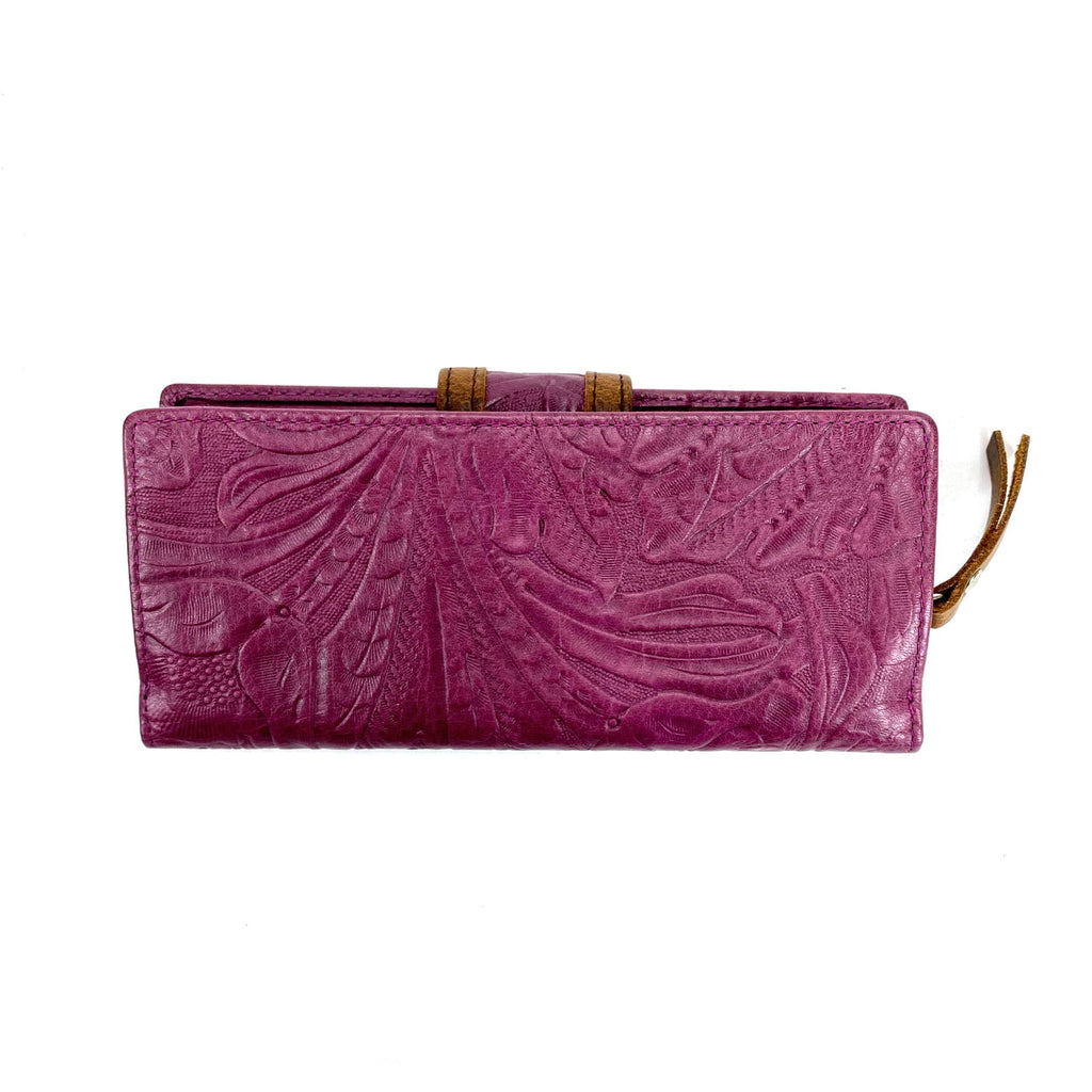 Osgoode Marley 1436 Floral Sangria Leather Clutch Wallet | Simons Shoes