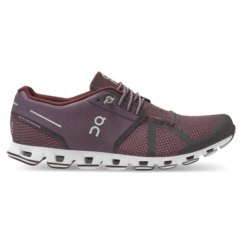 On Running Cloud Lightweight Men's Pebble/Raisin Running Sneaker | Simons Shoes