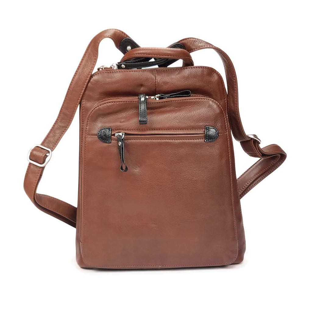 Osgoode Marley (7107) Unisex Leather Ultimate Storage Daily Backpack