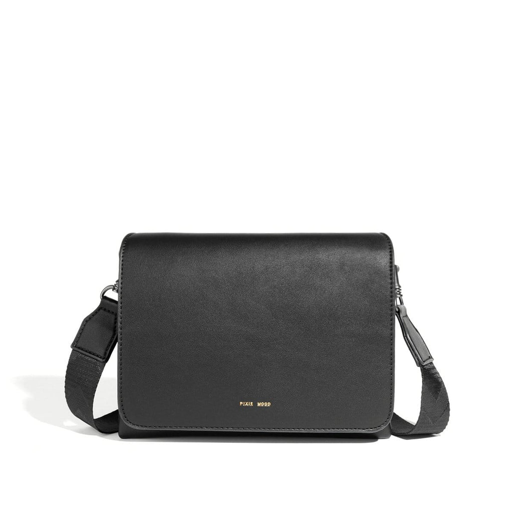Pixie Mood Gianna Black Vegan Leather Crossbody | Simons Shoes