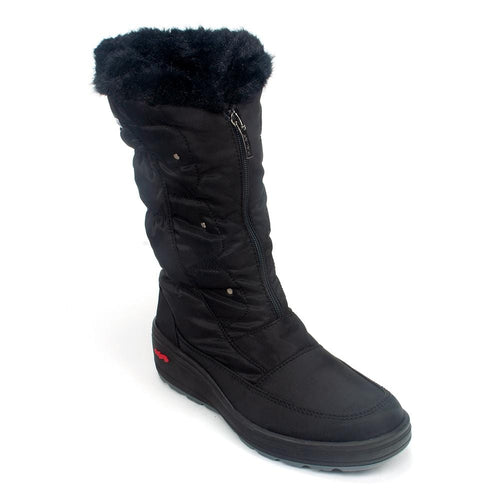 Pajar Louisa Waterproof Nylon Faux Fur Lined Winter Demi Boot Shoe