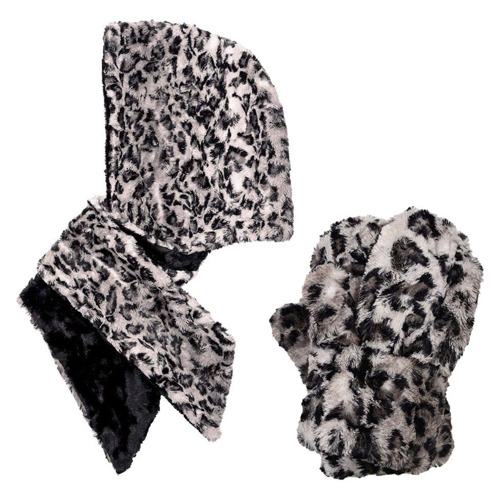 Pandemonium Savannah Cat Gift Box Hoody Scarf + Mittens │ Simons Shoes
