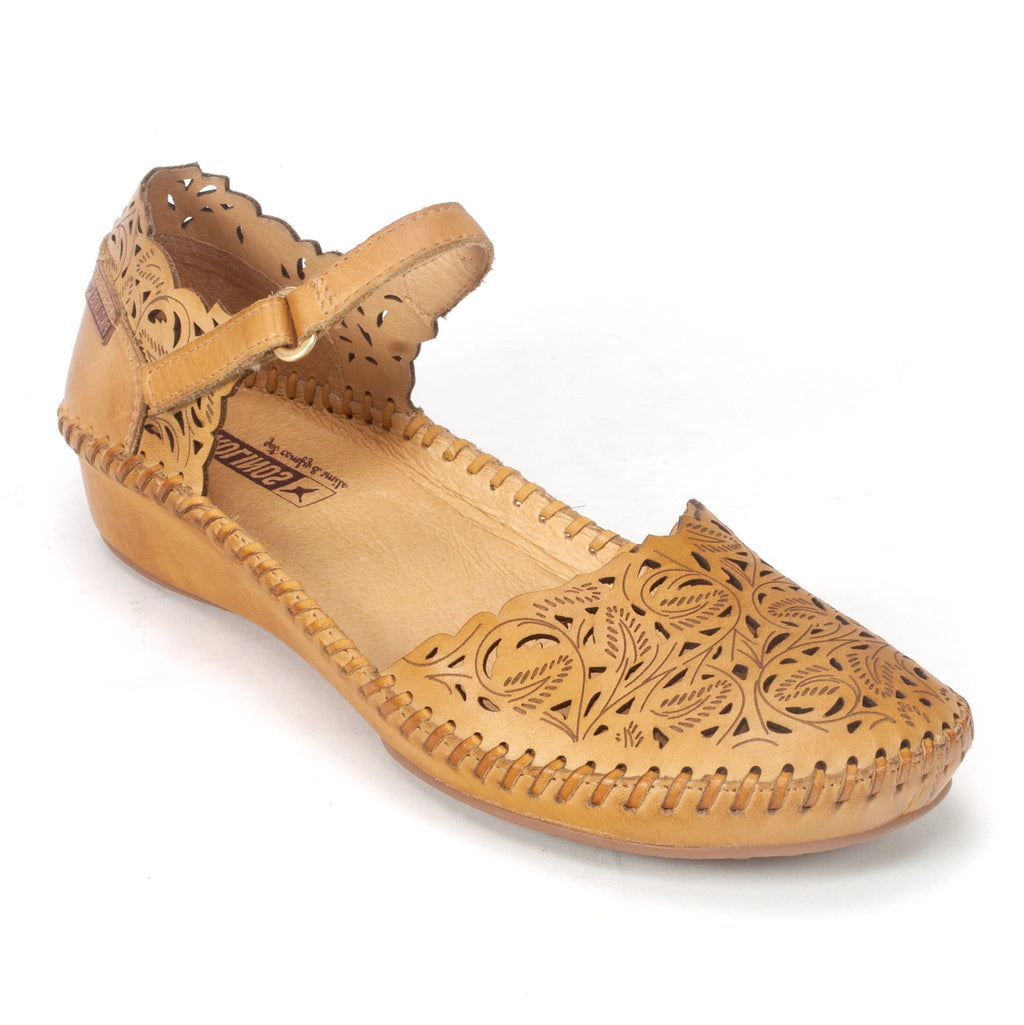 Pikolinos Womens Leather P. Vallarta shoe (655-0906) Honey | Simons Shoes