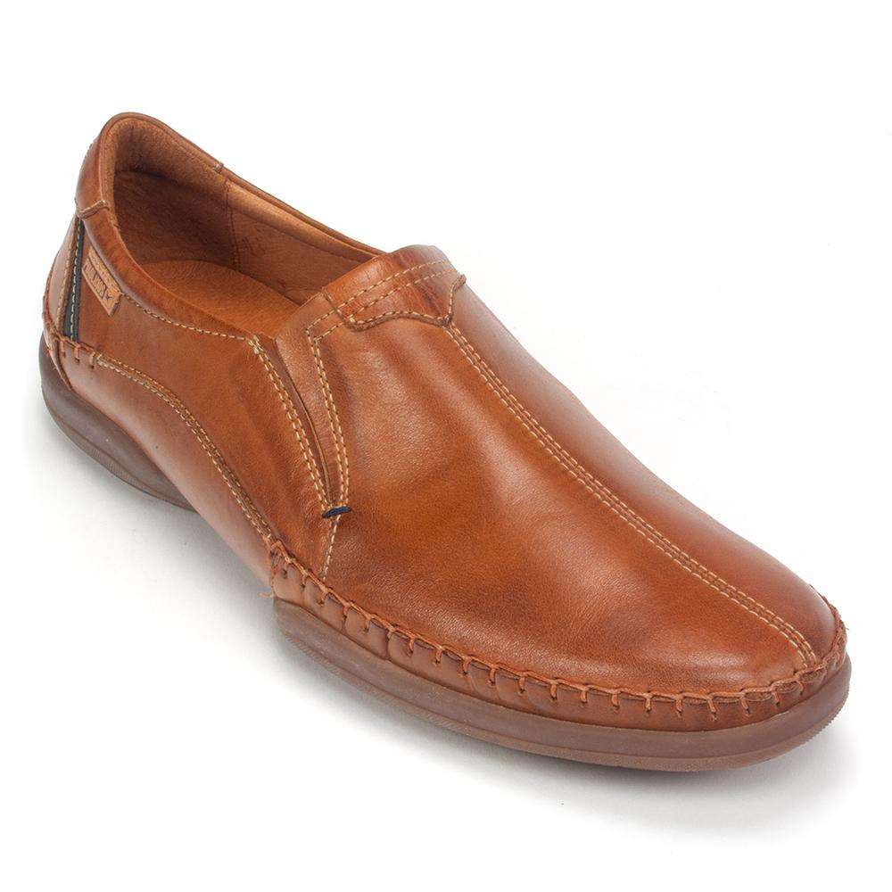 Pikolinos Brown Leather Slip On loafers Men's Size 38