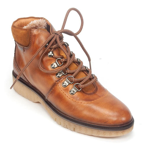 Pikolinos W0U-8659 Women's Burnished Leather Lace Up Ankle Bootie Shoe