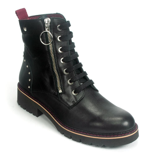 Pikolinos Vicar Combat Boot (W0V-8610) | Women's Leather Studded Shoe