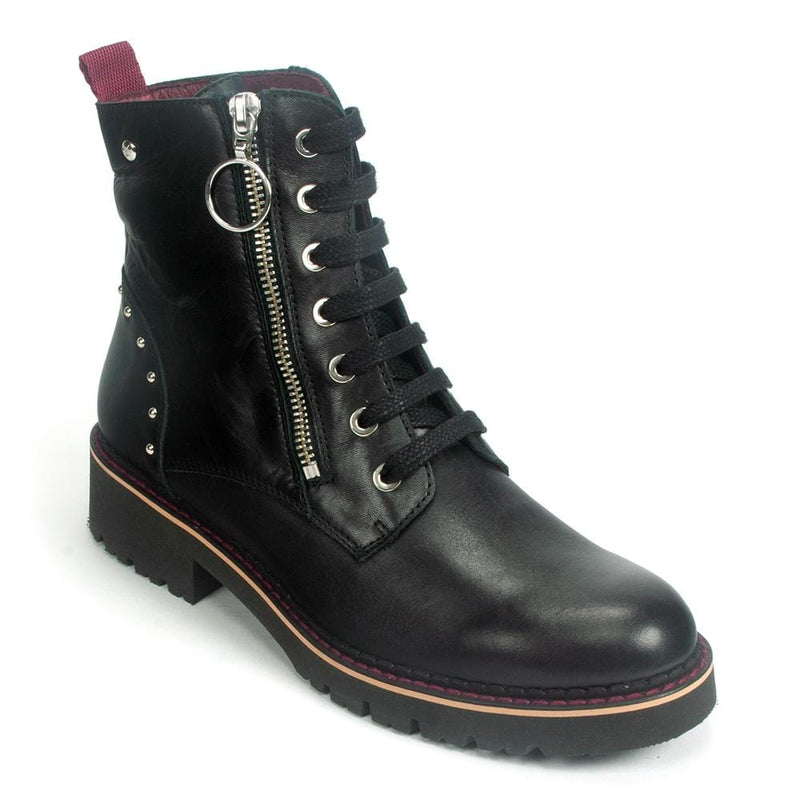 Pikolinos Vicar Womens Leather Combat Boot (W0V-8610) | Simons Shoes