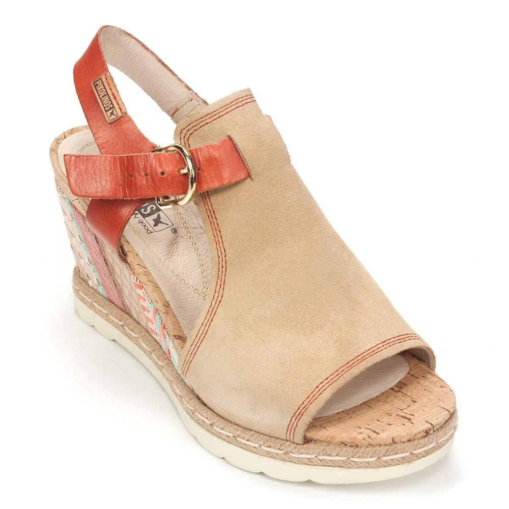 Pikolinos Bali (W2L-0871SE) Women's Leather Wedge Sandal Shoe