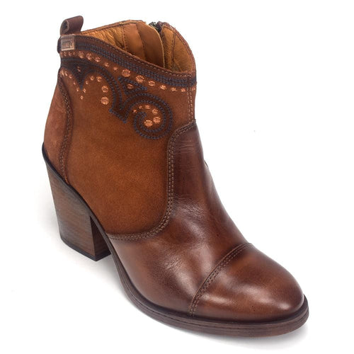 Women's Pikolinos Alicante W3P-8975 Leather Western Heel Bootie Shoe