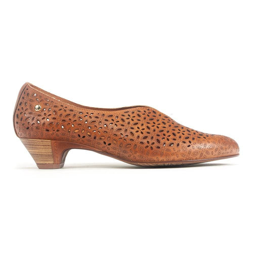 Pikolinos W4B-5900 Womens Perforated Leather Kitten Heel Simons Shoes