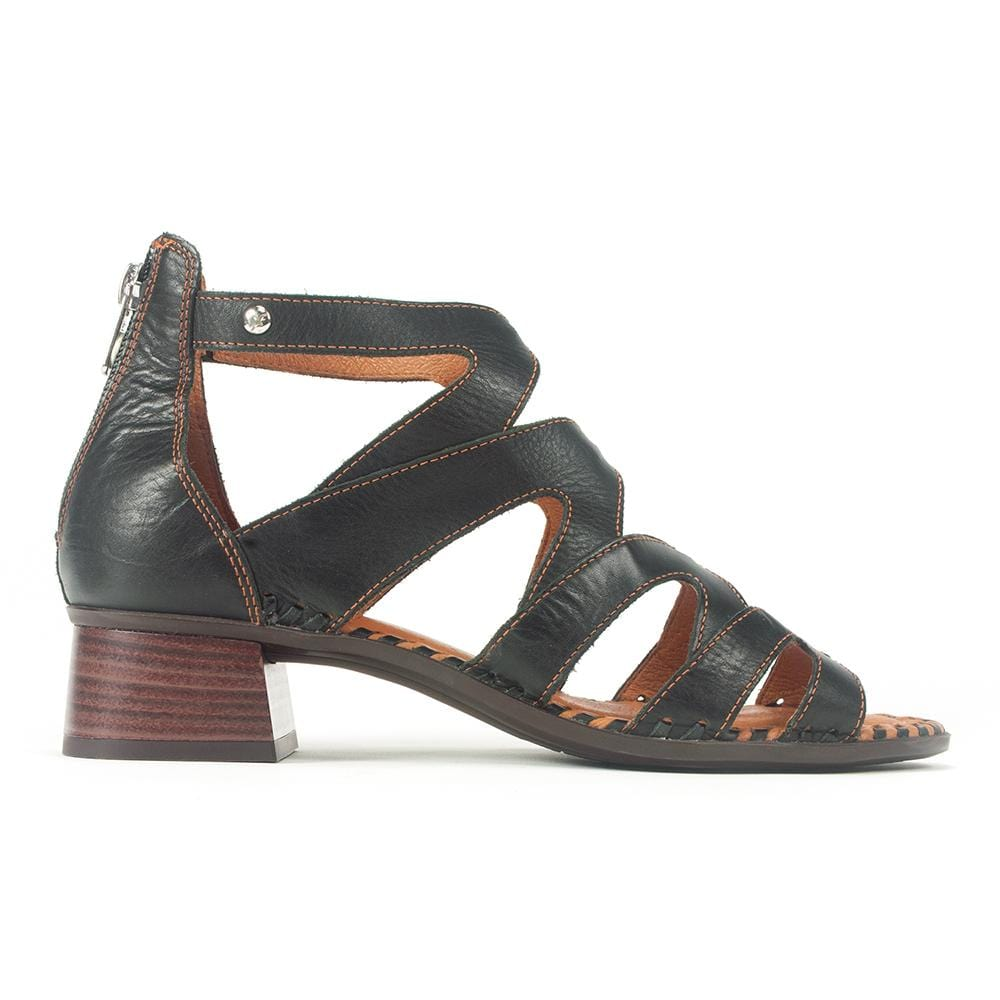 Pikolinos W4G-1907 Womens Gladiator Leather Heel Sandal | Simons Shoes