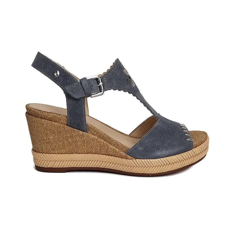 Pikolinos (W7R-1711SO) Mojacar Suede Embroidered T Strap Sandal Shoe