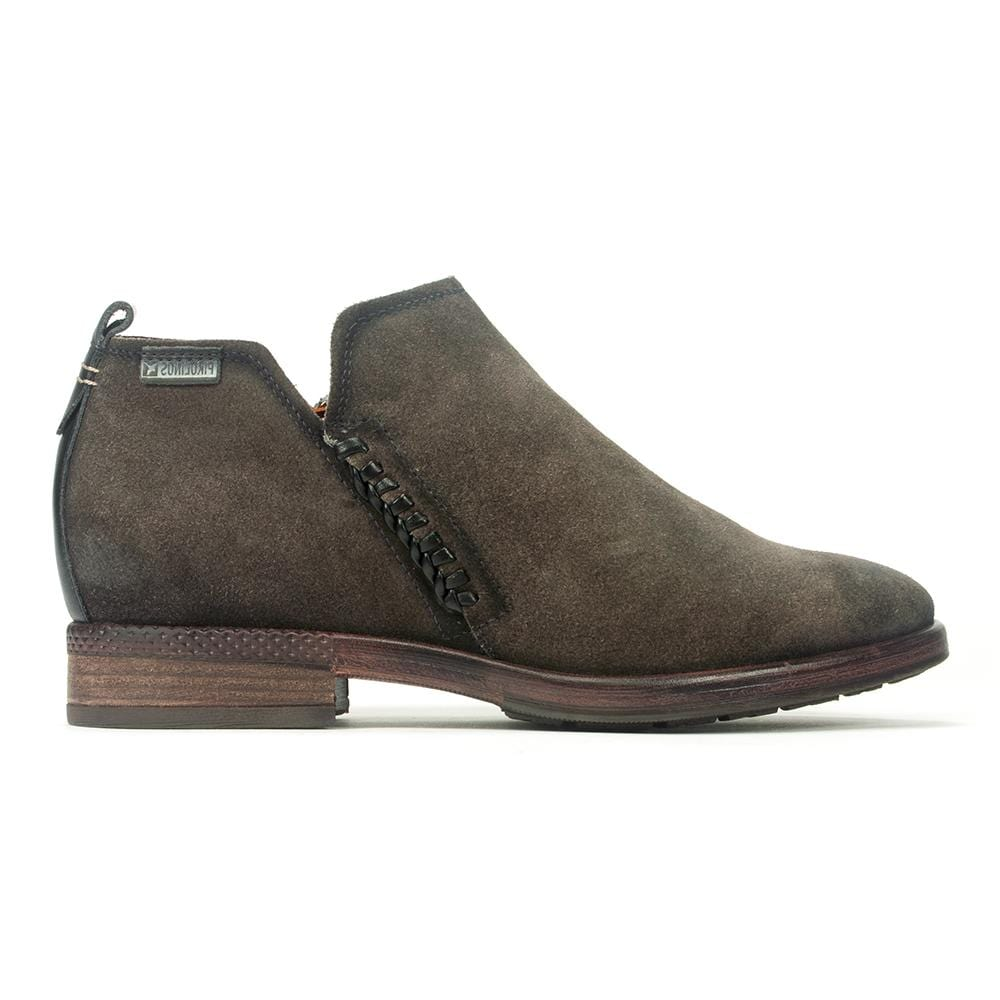 Ordino Suede Bootie (W8M-8692SO) | Women's Comfortable Leather Flat