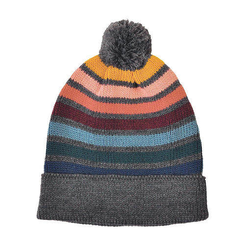 Rainbow Striped Pom Hat (RNWHO)
