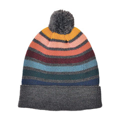 Rainbow Striped Pom Hat RNWHO