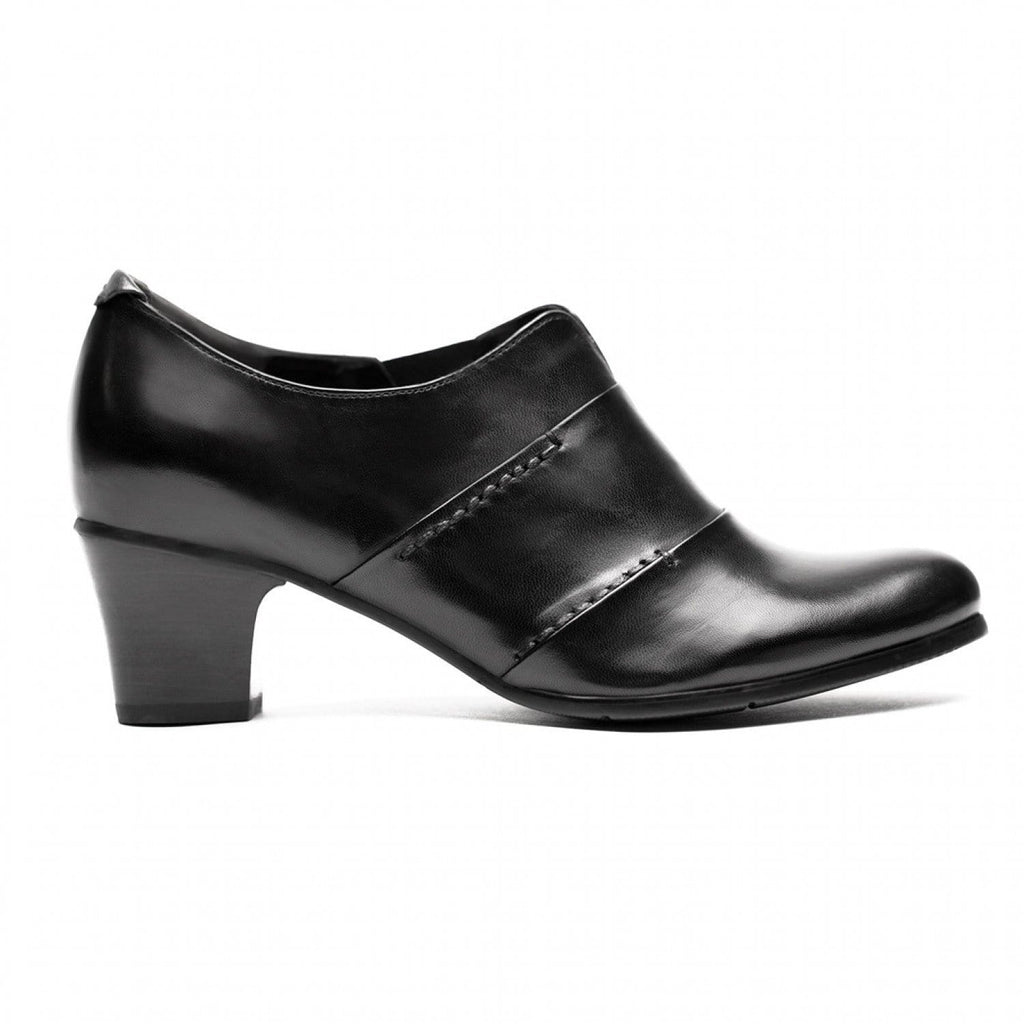 Regarde Le Ciel Valery-02 Womens Leather Ankle Bootie Black | Simons Shoes