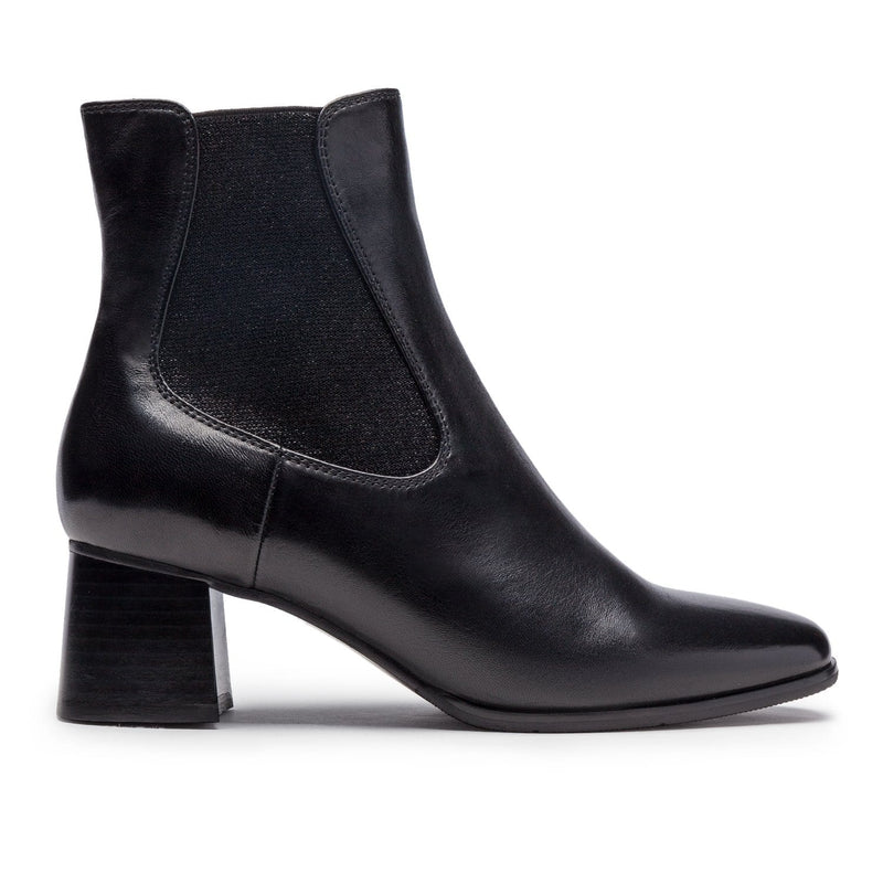 Regarde Le Ciel Ines 07 Women's Soft Leather Slip On Bootie Heel Shoe