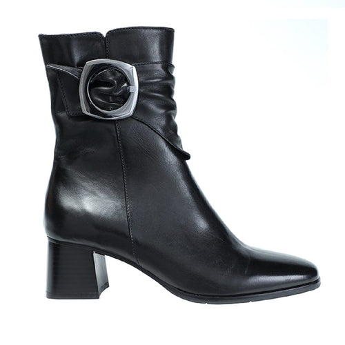 Regarde Le Ciel Ines 18 Women's Leather Buckled Demi Heeled Boot Shoe