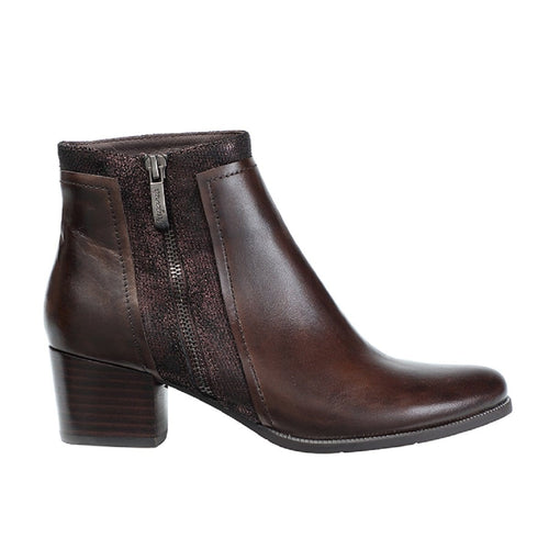 Regarde Le Ciel Isabel 28 Women's Leather Zip Modern Ankle Bootie Shoe