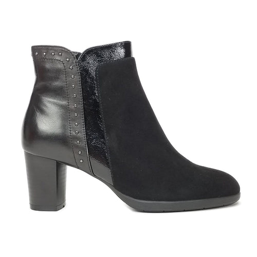 Regarde Le Ciel Women's Brigitte12 Suede Patent Leather Boot Shoe