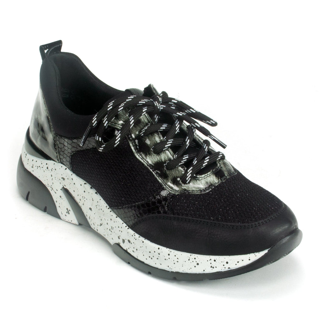 Remonte Lace Up Women's Sneaker (D4107) Black Combi | Simons Shoes