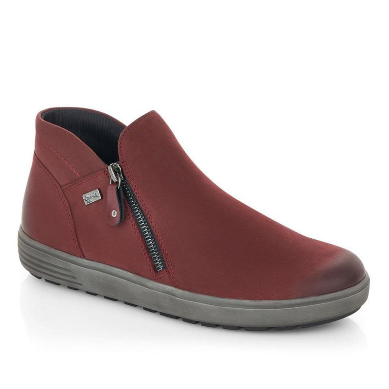 Remonte D4470 Women's Sporty Nubuck Ankle Boot Wine | Simons Shoes