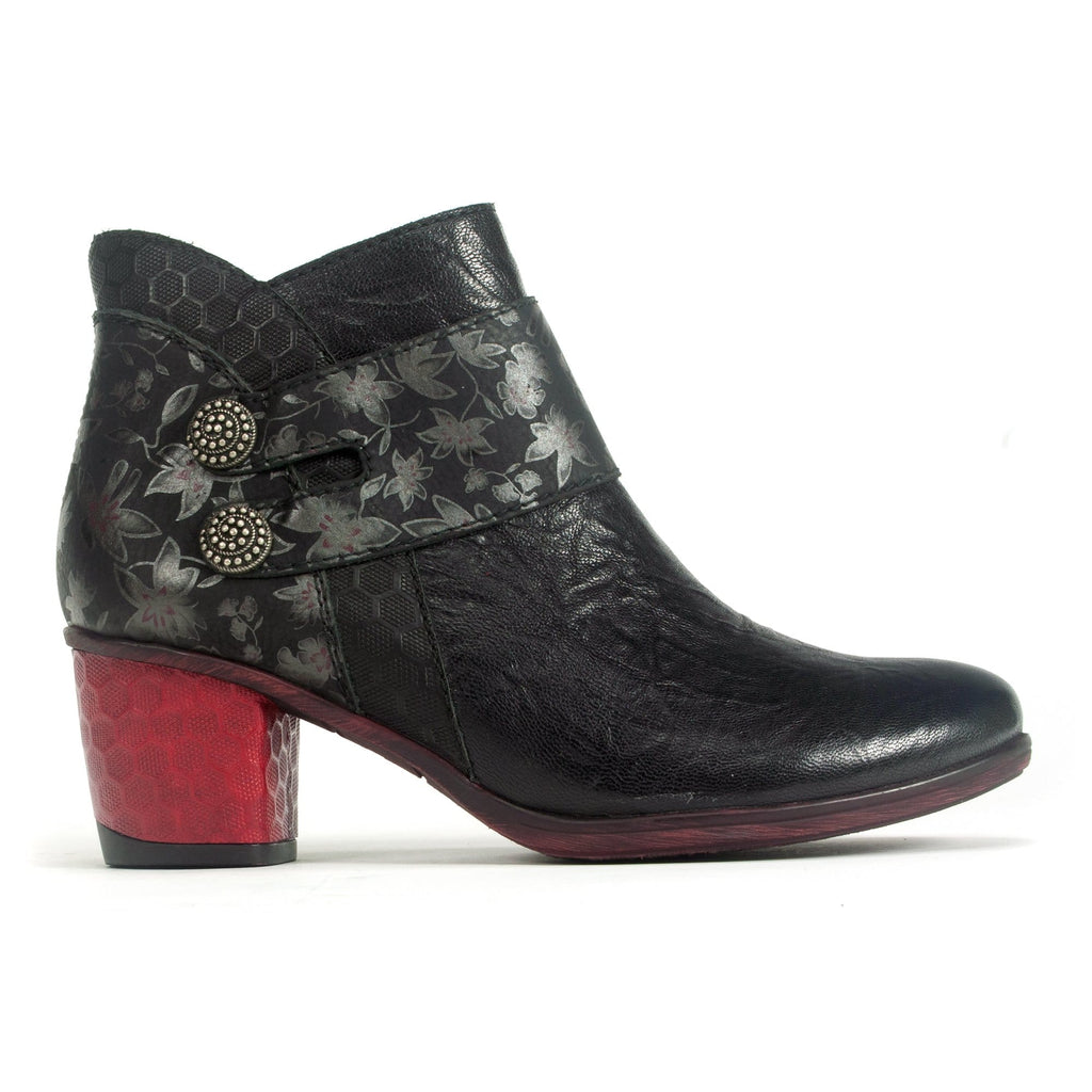 Remonte D5472 Women's High Heel Patterned Bootie Nero | Simons Shoes