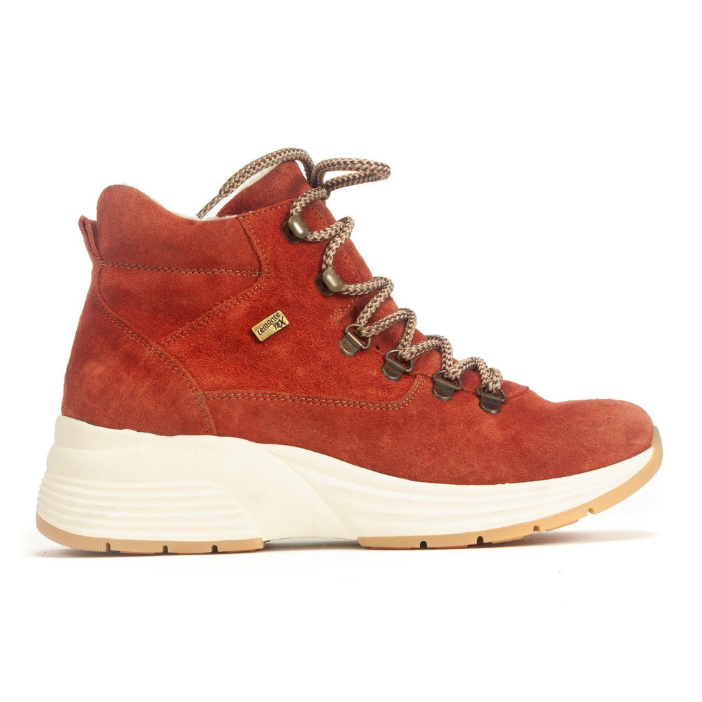 Remonte D6675-38 Women's Sporty Suede Sneaker Bootie Orange | Simons Shoes