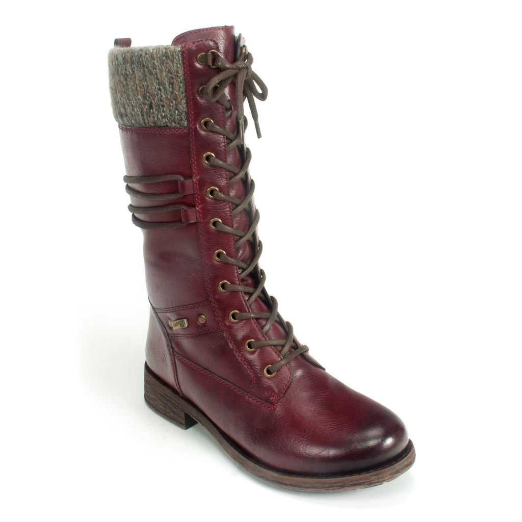 Remonte D8077 Women's Tall Combat Fashion Boot 35 Red | Simons Shoes