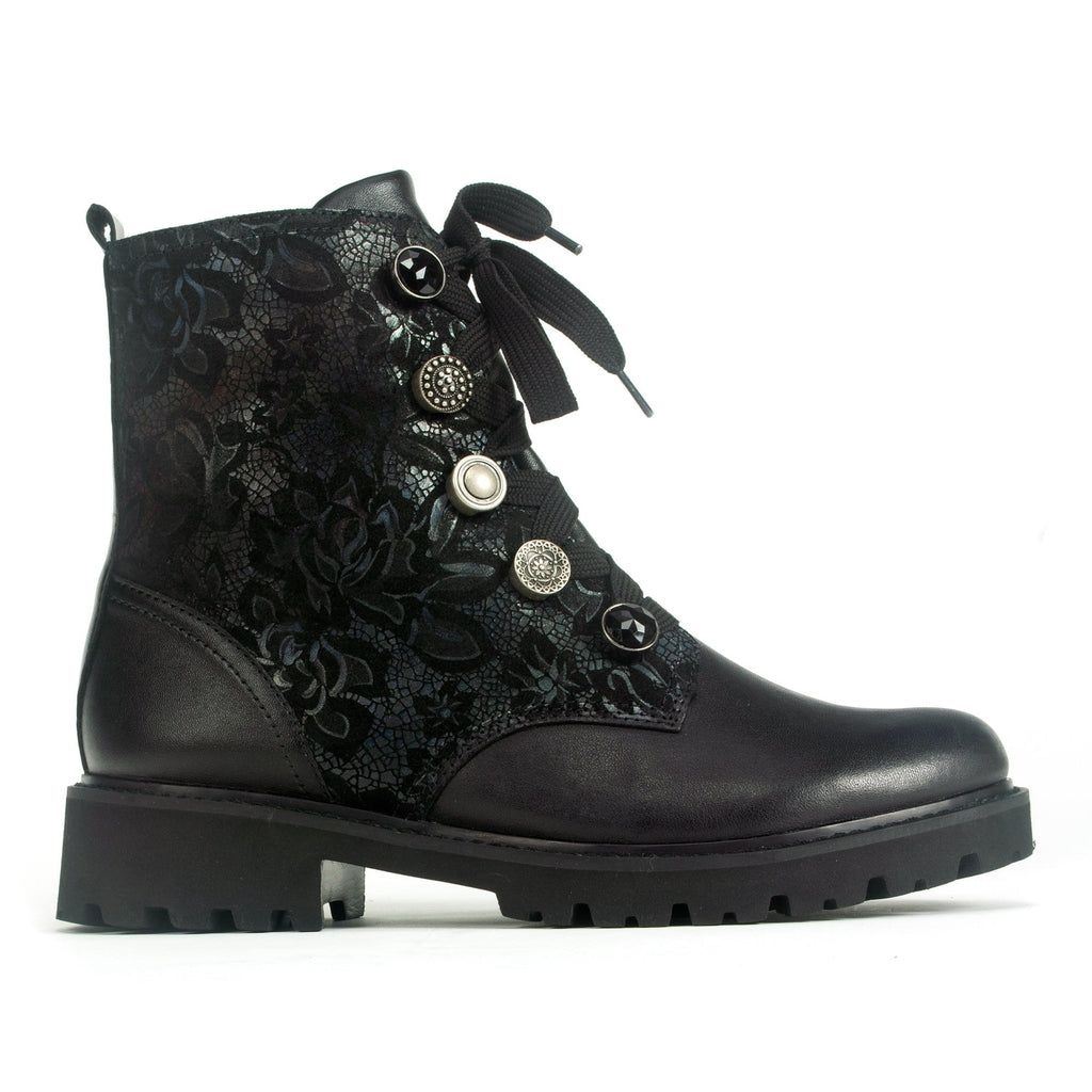 Remonte (D8677) Women's Floral Boot with Eyelets Synthetic | Simons Shoes