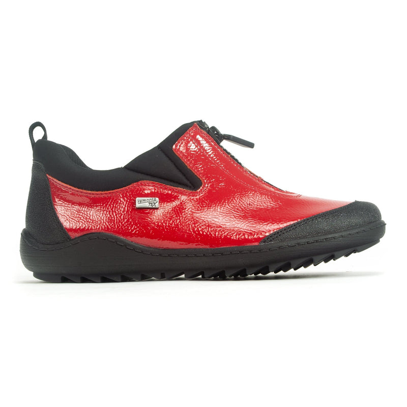 Remonte R1422 Women's Sporty Zip Up Walking Shoe 35 Red | Simons Shoes