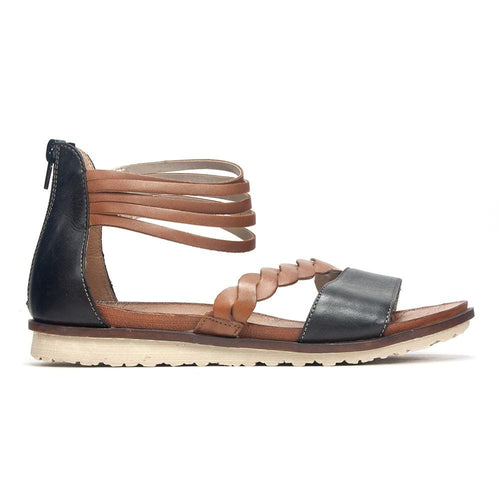 Remonte Strappy R2758 Low Wedge Two Toned Leather Sandal Shoe