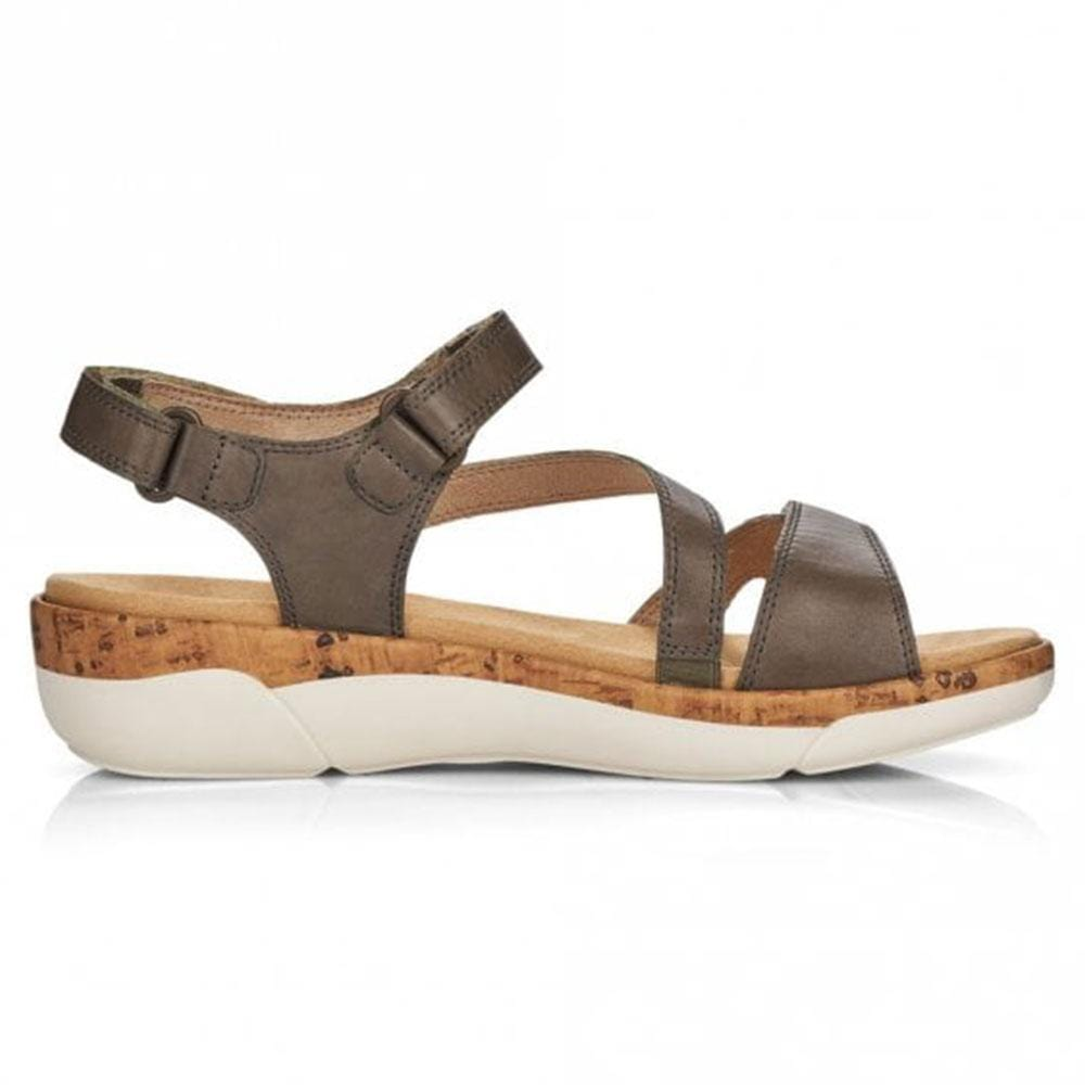 Remonte R6850 Women's Walking Sandal Forest Leather | Simons Shoes