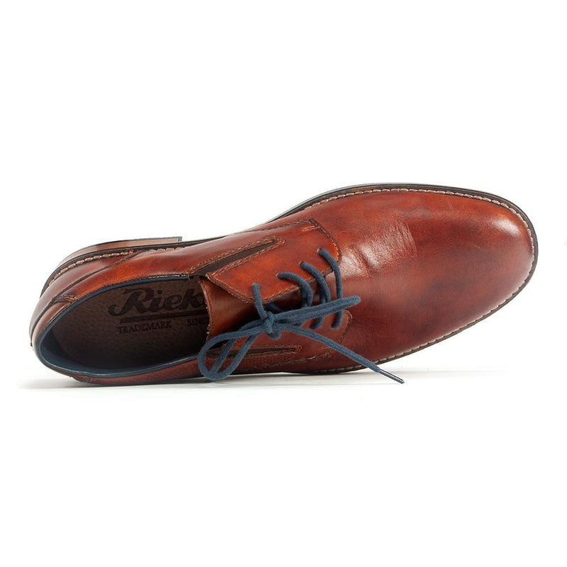 Rieker 13514 Mens Lace Up Chestnut Leather Dress Shoe | Simons Shoes