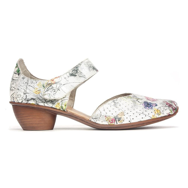 Perforated Floral Heel (43789)