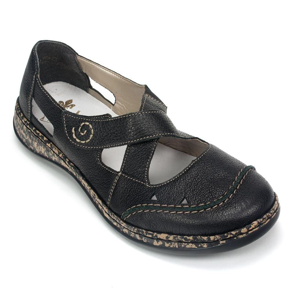 Rieker 46335 Women's Leather Crisscross Mary Jane Flat Casual Shoe