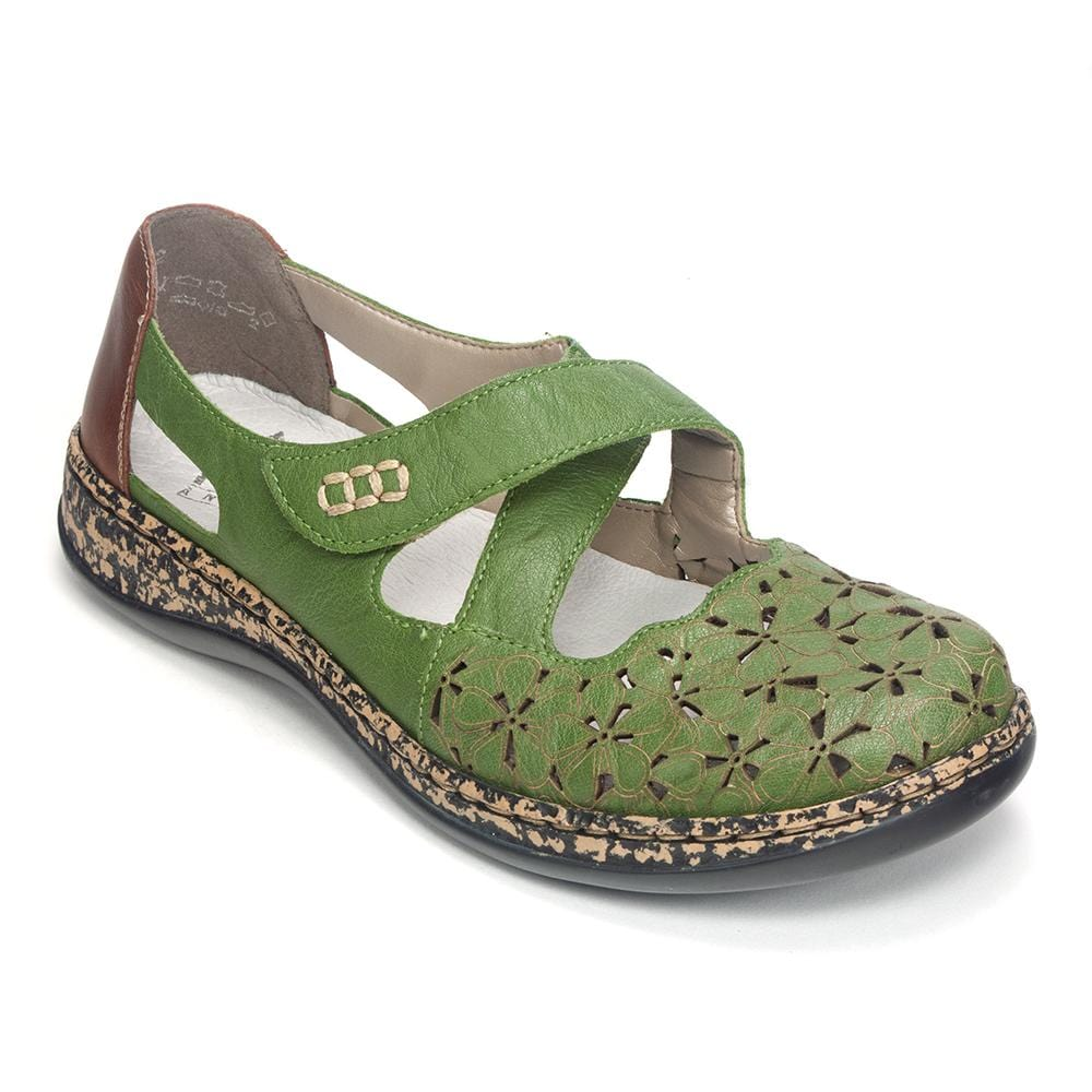 0925245407 Rieker Women s Cut Out Mary Jane (463H4) Perforated Shoe- Simons Shoes