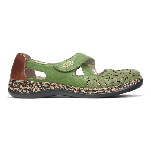 Rieker Women's Cut Out Mary Jane (463H4) Perforated Shoe- Simons Shoes