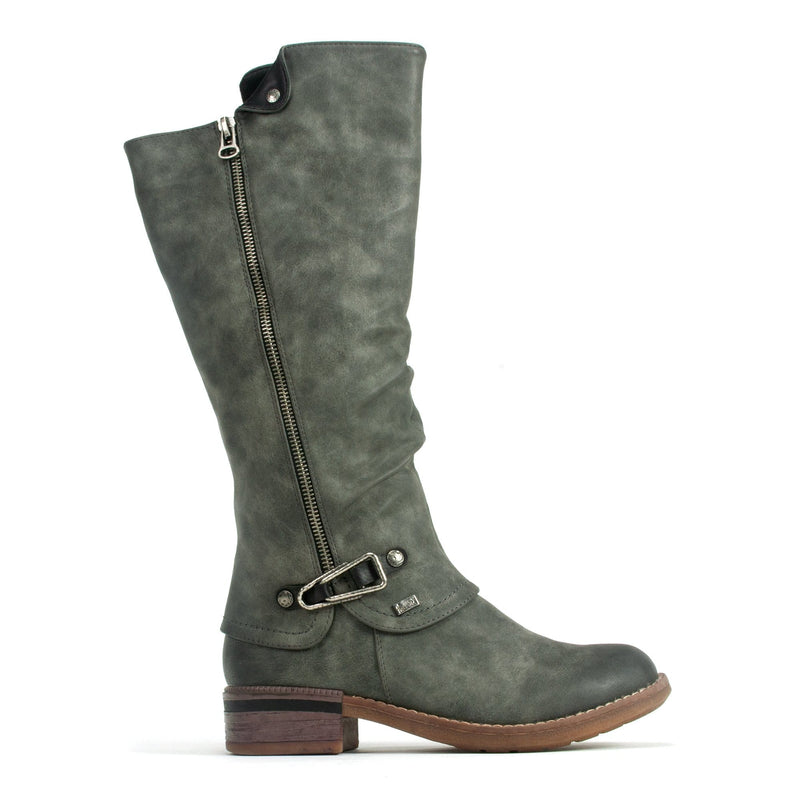 Rieker 94652 | Women's Synthetic Leather Tall Riding Boot | Simons