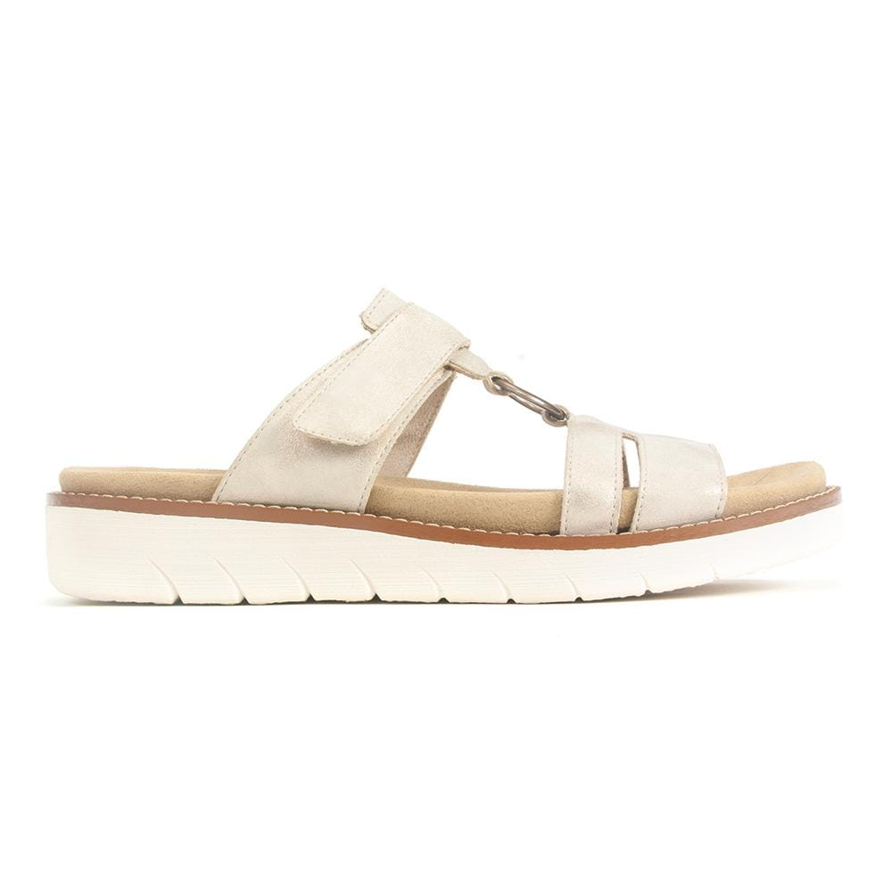 Remonte D2056 Womens Comfort Leather Slide Sandal | Simons Shoes