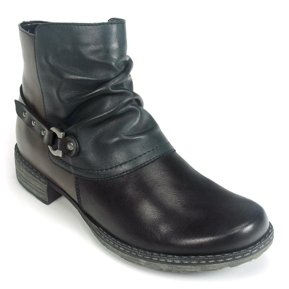 Remonte Women's Leather Color Block Ankle Boot (D4359) | Simons Shoes