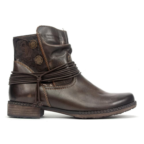 Remonte D4363 | Women's Embossed Leather Country Bootie | Simons Shoes