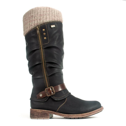 Remonte Women's Leather Warm Knee High Boot (D8076) | Simons Shoes