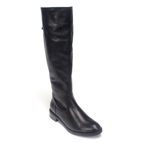 Remonte D8582 | Women's Leather Tall Zip-Up Riding Boot | Simons Shoes